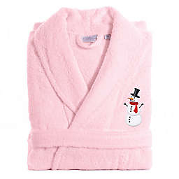 Linum Home Textiles Snowman Large/XL Bathrobe in Pink