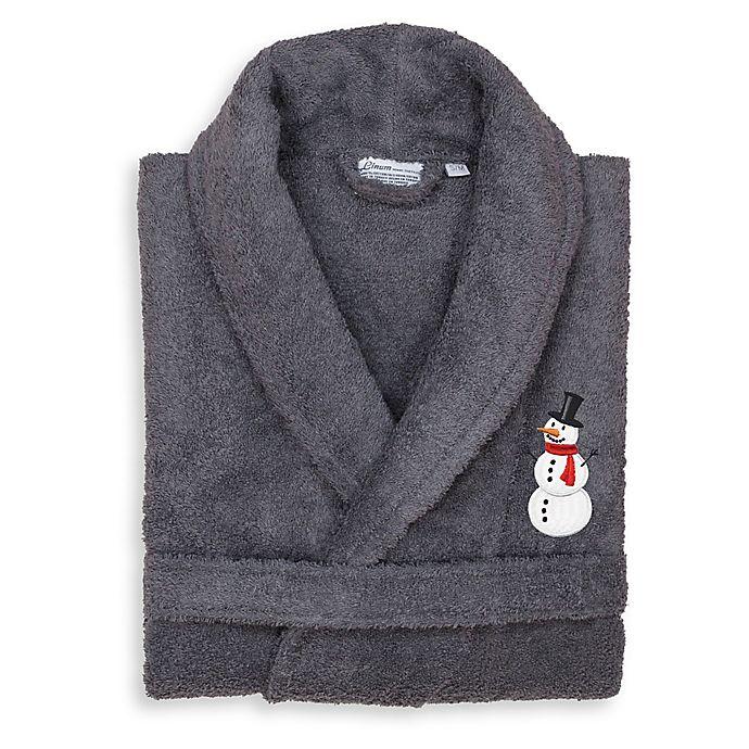 Alternate image 1 for Linum Home Textiles Snowman Small/Medium Bathrobe in Grey