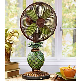 Deco Breeze® Mosaic Glass Pineapple Table Fan