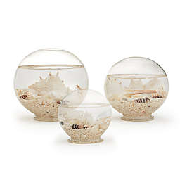 Two's Company® Atlantis Shell-Filled Decorative Globes (Set of 3)