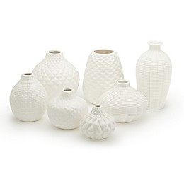 Two's Company® Artisan Carvings Ceramic Bud Vases (Set of 7)