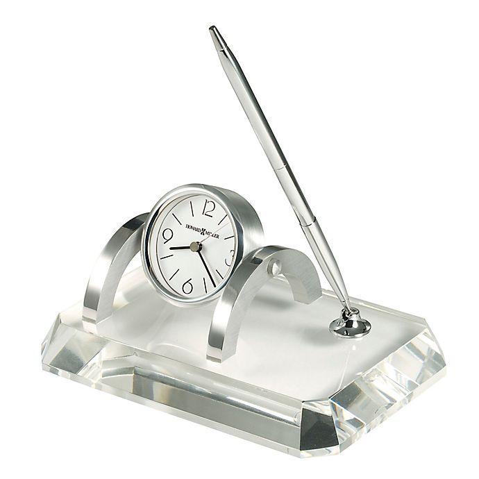 Alternate image 1 for Howard Miller Prominence Desk Clock and Pen Set