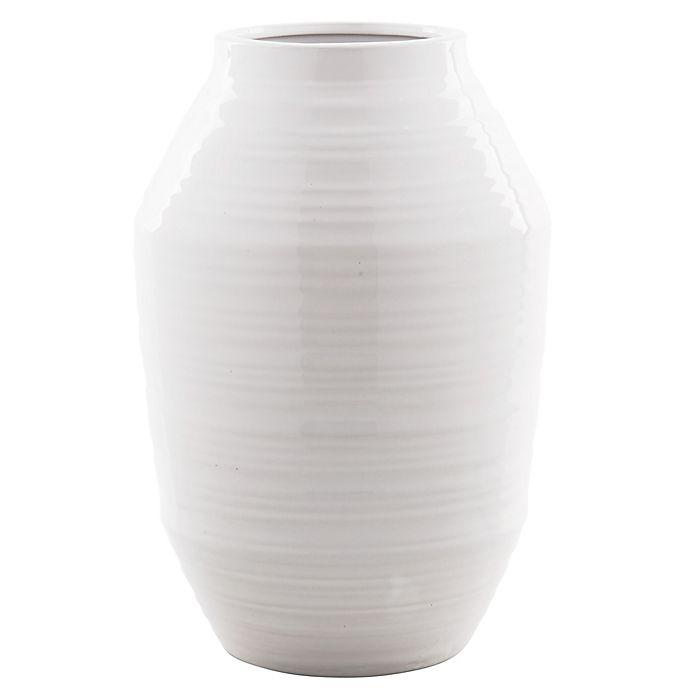 Alternate image 1 for Bee & Willow™ Home 12-Inch Ceramic Vase in White