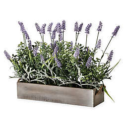 Bee & Willow™ Home Artificial Lavender Plant in Wooden Ledge Box