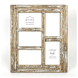 Prinz Homestead Wood  5-Photo 4-Inch x 6-Inch Collage Frame