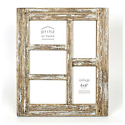 Prinz Homestead Wood 5 Photo 4 Inch X 6 Collage Frame
