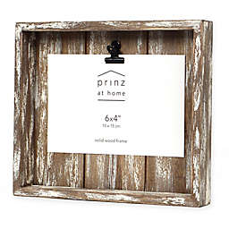 Prinz Crate 4-inch x 6-Inch Wood Clip Picture Frame