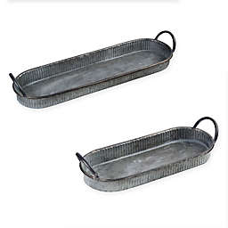 Bee & Willow™ Home Galvanized Metal Oval Tray