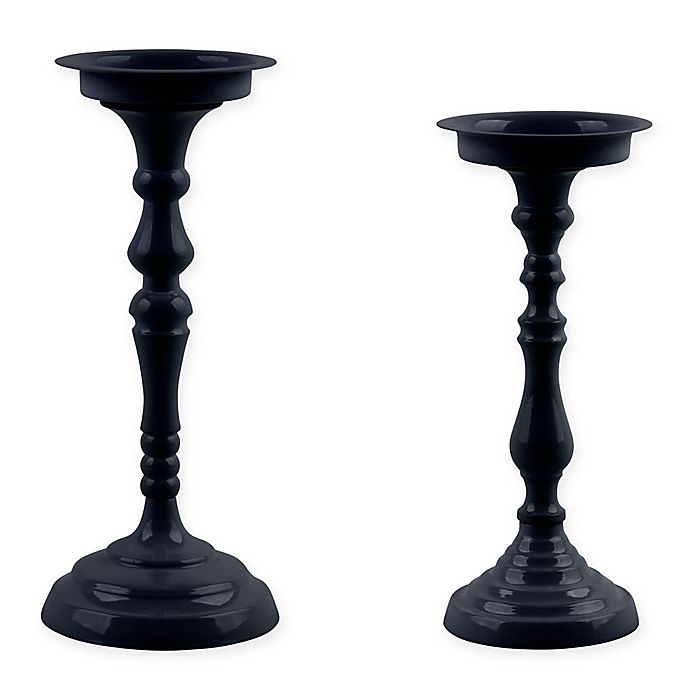 Alternate image 1 for Bee & Willow™ Home Metal Taper Candle Holder in Navy