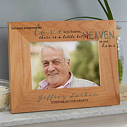 Heaven In Our Home Wood Picture Frame