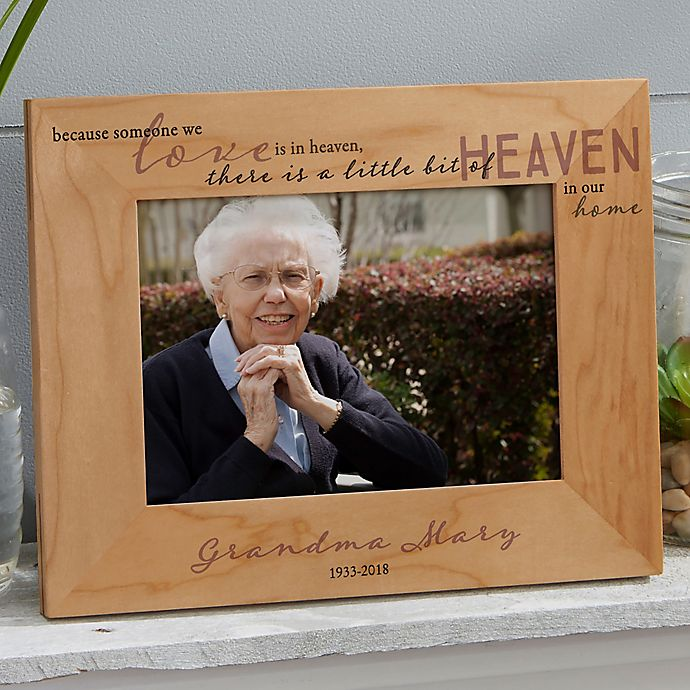 Alternate image 1 for Heaven In Our Home 5-Inch x 7-Inch Wood Picture Frame