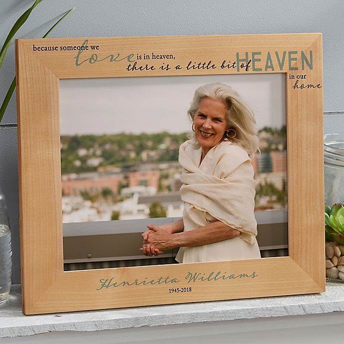 Alternate image 1 for Heaven In Our Home 8-Inch x 10-Inch Wood Picture Frame