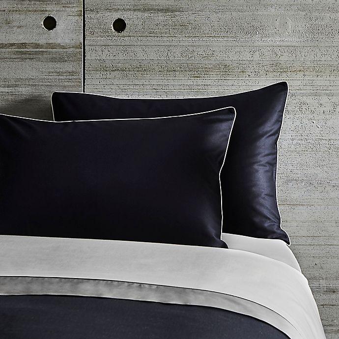 Alternate image 1 for Frette At Home Post Modern King Pillow Sham in Black/Ivory