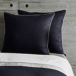Frette At Home Post Modern European Pillow Sham in White/Navy