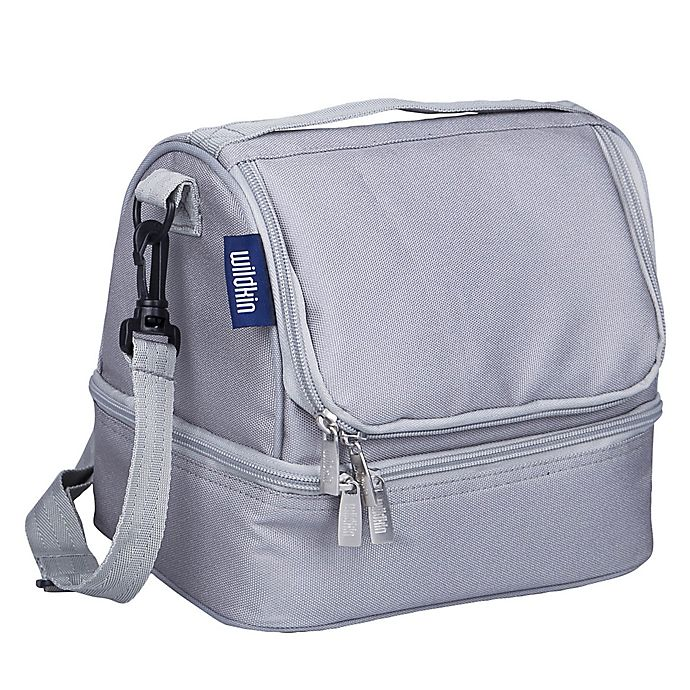 Wildkin Two Compartment Lunch Bag In Grey Bed Bath Beyond