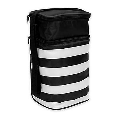 J.L. Childress Insulated 6-Bottle Cooler in Black/White Stripe