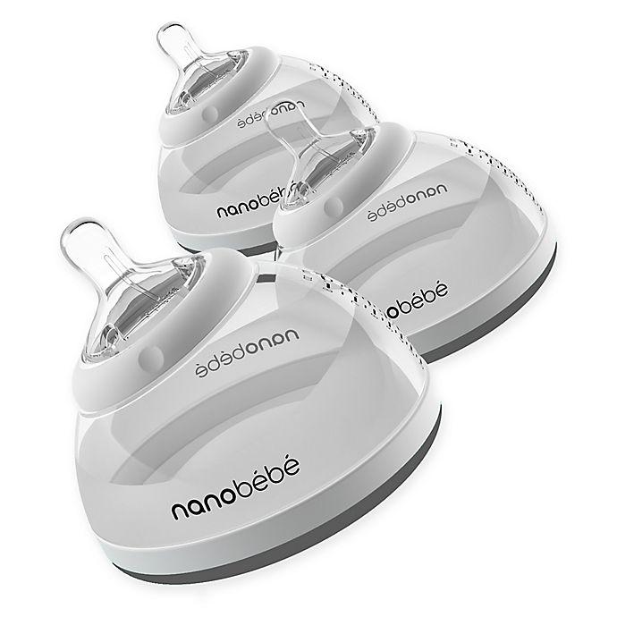 Alternate image 1 for Nanobebe 3-Pack 8 fl. oz. Breast Milk Bottles