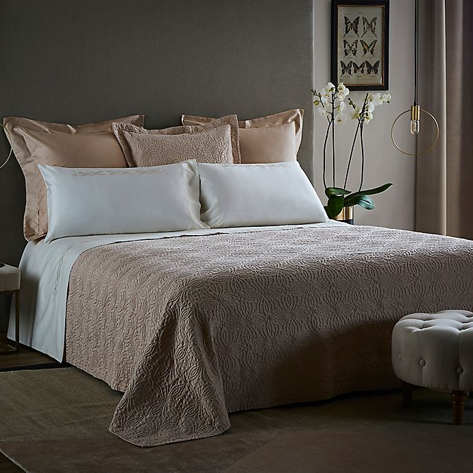 Alternate image 1 for Frette At Home Boho Fashion King Coverlet in Powder Pink