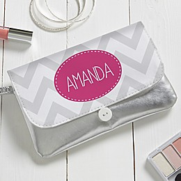 Personalized Chevron Wristlet