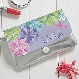 Personalized Precious Flower Wristlet