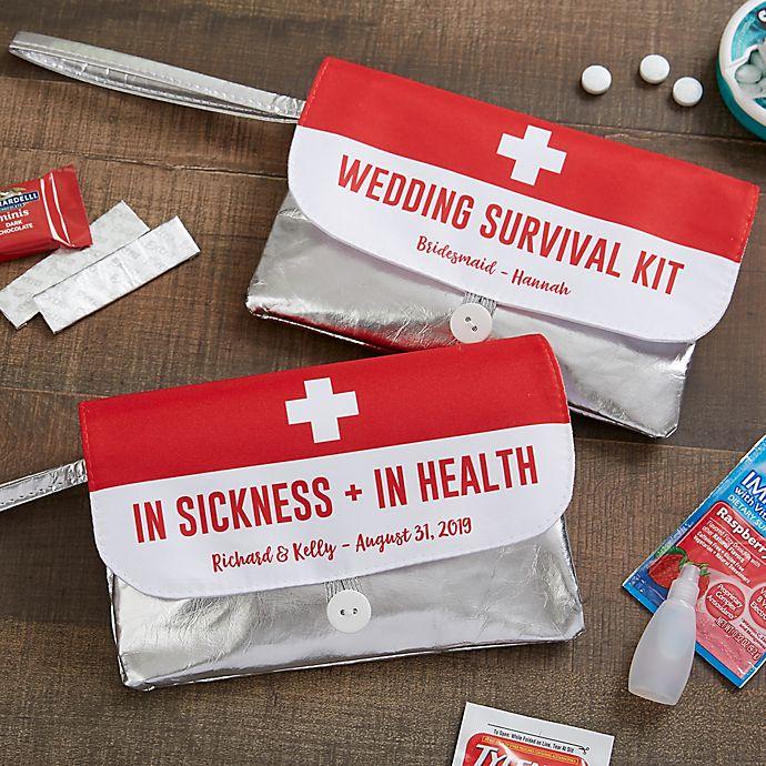 Alternate image 1 for Personalized Wedding Survival Kit Wristlet