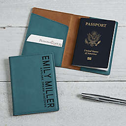 Bold Style Passport Holder in Teal