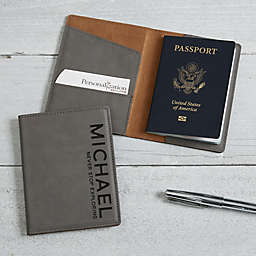 Bold Style Passport Holder in Charcoal