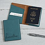 Wedded Bliss Passport Holder in Teal