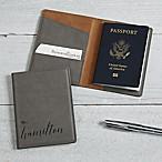 Wedded Bliss Passport Holder in Grey