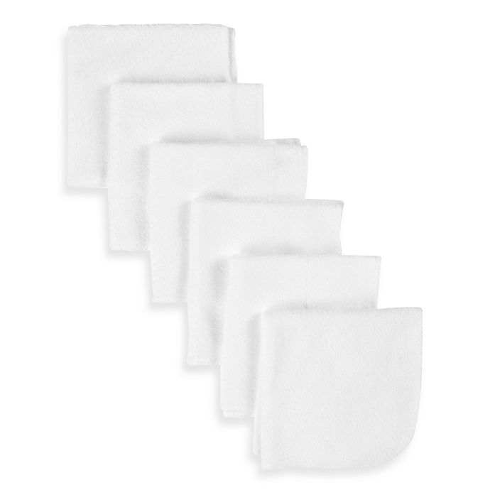 Alternate image 1 for Gerber® Terry Washcloths 6-Pack in White