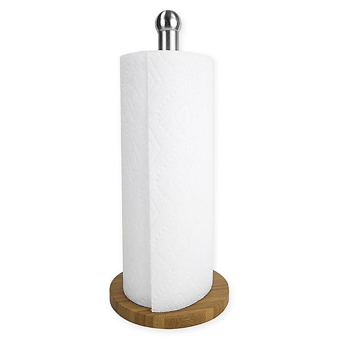 Alternate image 1 for Home Basics® Bamboo Paper Towel Holder