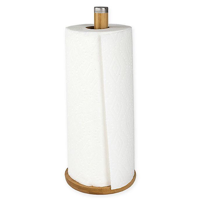 Alternate image 1 for Home Basics® Bamboo Paper Towel Holder in Natural