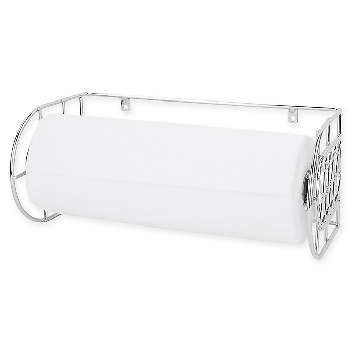 Alternate image 1 for Home Basics® Twilight Wall-Mounted Paper Towel Holder in Chrome