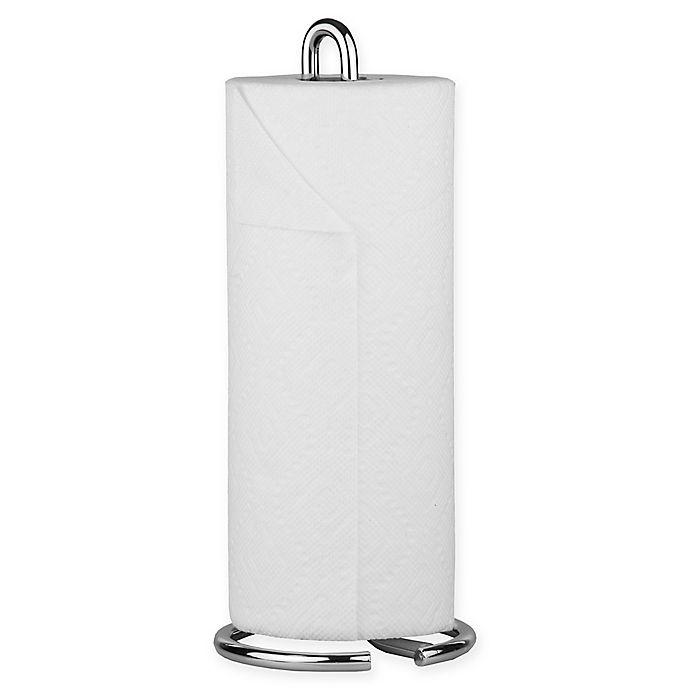 Alternate image 1 for Home Basics Simplicity Paper Towel Holder in Chrome