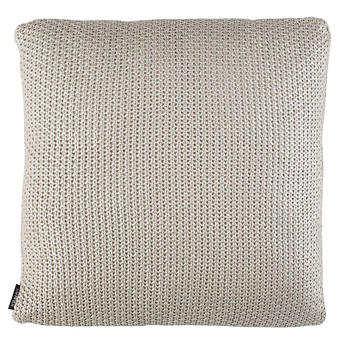 Stupendous Safavieh Tickled Square Knit Throw Pillow In Grey Bed Bath Theyellowbook Wood Chair Design Ideas Theyellowbookinfo