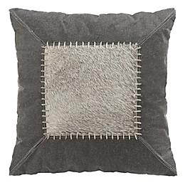 Safavieh Lodi Cowhide Square Throw Pillow in Grey