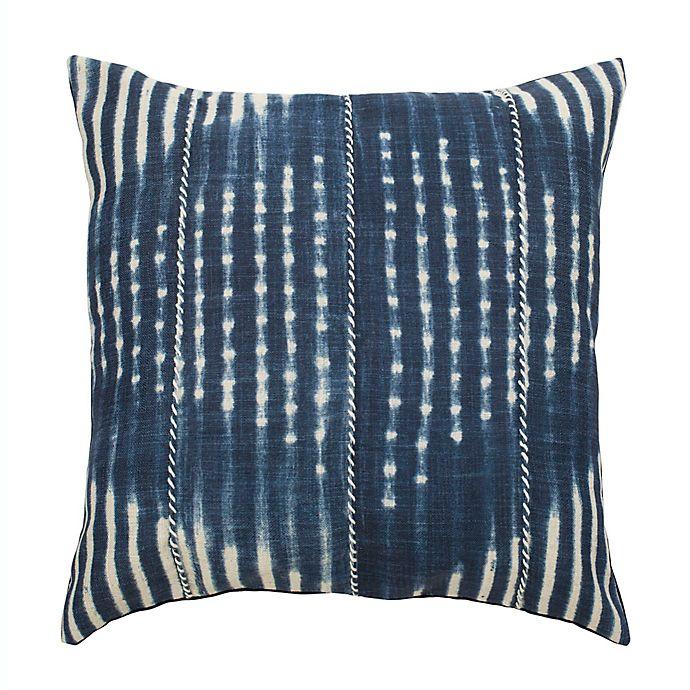 Alternate image 1 for Safavieh Laurena Square Throw Pillow in Blue/Cream