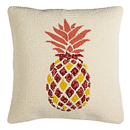 Safavieh Pineapple Indoor/Outdoor Square Throw Pillow in Red/Yellow