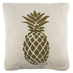 Safavieh Pure Pineapple Square Indoor/Outdoor Throw Pillow in Gold/White
