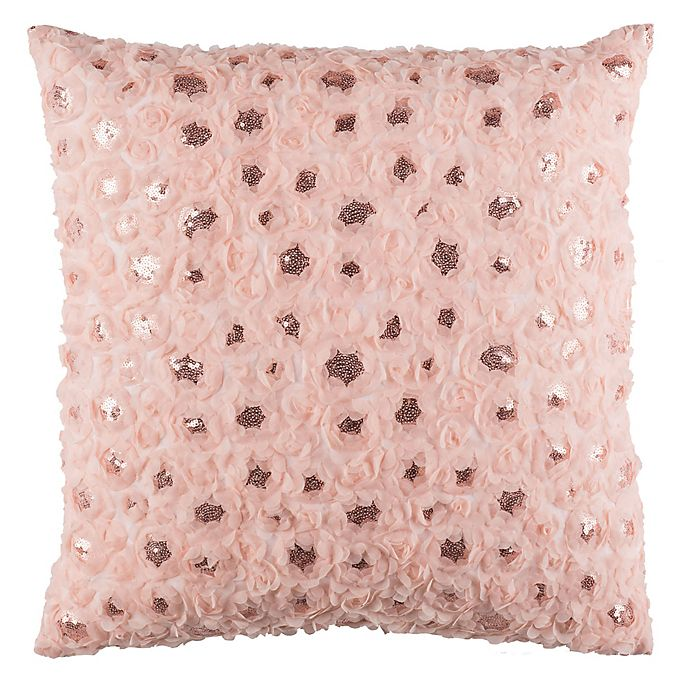 Alternate image 1 for Safavieh Glam Floral Square Throw Pillow in Pink