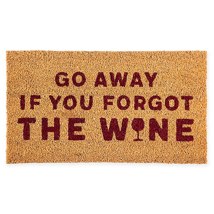 Evergreen Wine 16 X 28 Coir Door Mat