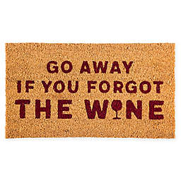 "Evergreen Wine 16"" x 28"" Coir Door Mat Insert in Red"