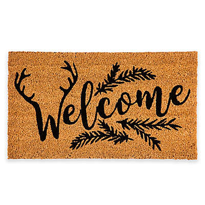 "Evergreen™ Welcome Antler 16"" x 28"" Coir Door Mat Insert"