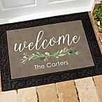 Greenery Welcome 18-Inch x 27-Inch Doormat
