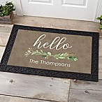 Greenery Welcome 20-Inch x 35-Inch Doormat