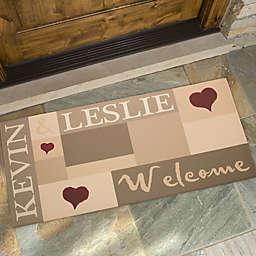 Loving Hearts 24-Inch x 48-Inch Doormat