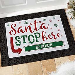 Santa Stop Here Doormat