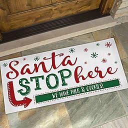 Santa Stop Here 24-Inch x 48-Inch Doormat