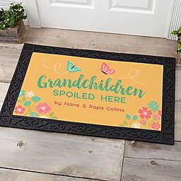 Grandchildren Spoiled Here 20-Inch x 35-Inch Doormat