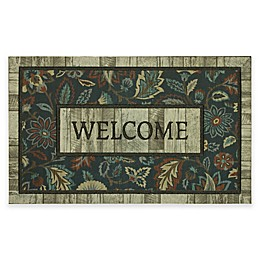 "Mohawk Home® Rustic Jacobean 18"" x 30"" Door Mat in Blue"